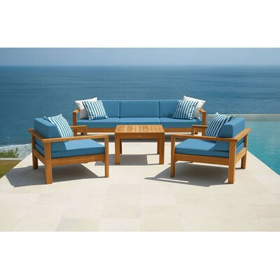 Barlow Tyrie Teak Linear Deep Seating Group