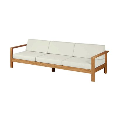 Barlow Tyrie Teak Linear Deep Seating Sofa