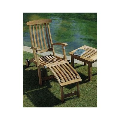 Barlow Tyrie Commodore Long Wheel Steamer Lounge Chair