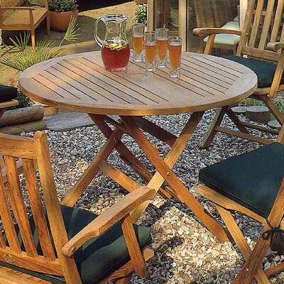 Barlow Tyrie Teak Ascot Round Folding Dining Table
