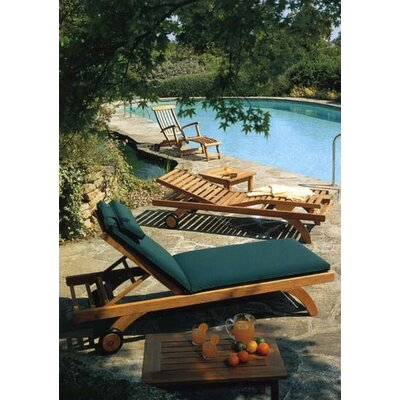 Barlow Tyrie Teak Capri Lounger with Wheels