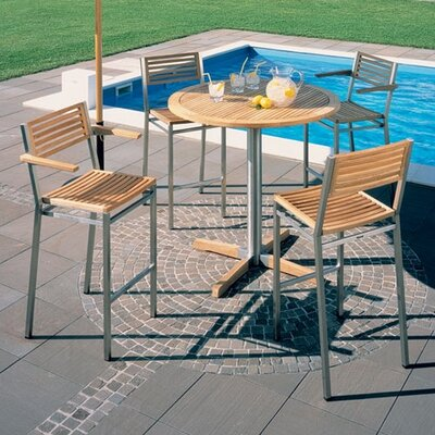 Barlow Tyrie Teak Equinox 4-Seat Outdoor High Dining Set