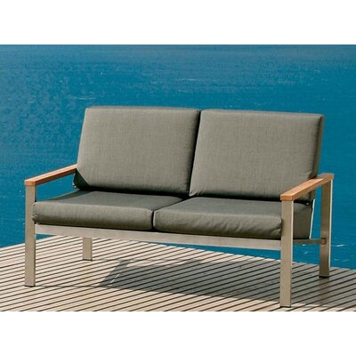 Barlow Tyrie Teak Equinox Loveseat with Cushions