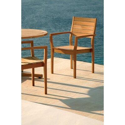 Barlow Tyrie Teak Horizon Teak Stacking Lounge Chair