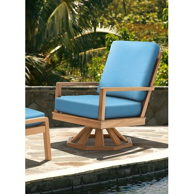 Barlow Tyrie Teak Avon Rocker Chair and Ottoman with Cushions