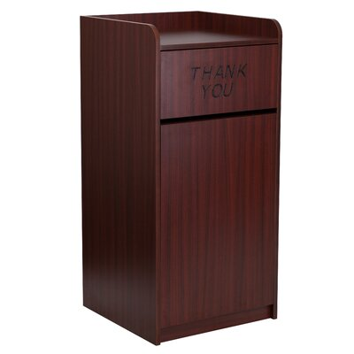 Flash Furniture Wood Tray Top Receptacle