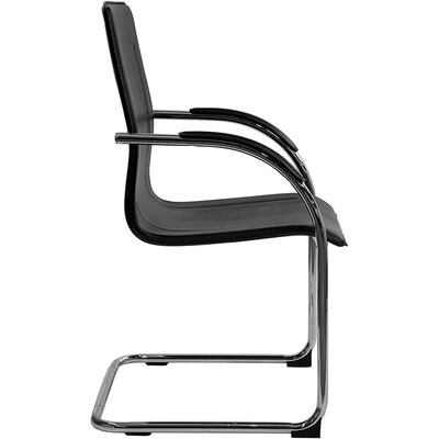 Flash Furniture Guest Side Chair with Chrome Sled Base