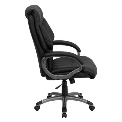 Flash Furniture High-Back Leather Executive Chair with Wing Back