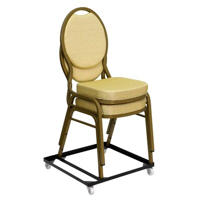 Flash Furniture Hercules Series Steel Stack Chair and Church Chair Dolly