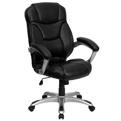 flash furniture high back leather office chair reviews wayfair