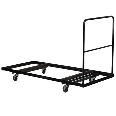 Flash Furniture Steel Folding Rectangular Folding Table Dolly