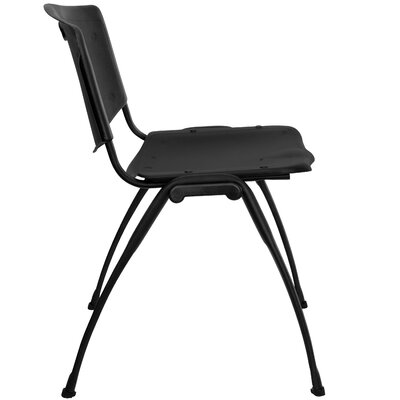 Flash Furniture Hercules Series Polypropylene Stack Chair in Black