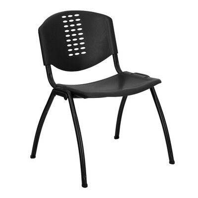 Flash Furniture Hercules Series Polypropylene Stack Chair with  Frame