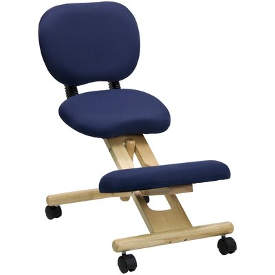 Flash Furniture Low-Back Height Adjustable Kneeling Chair with Dual Wheel