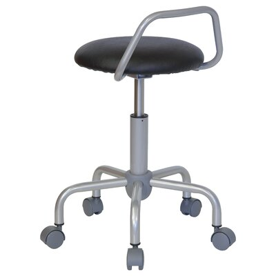 Flash Furniture Height Adjustable Stool with Raised Bar Backrest