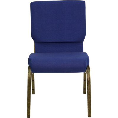 Flash Furniture Hercules Series 18.5' Wide Church Chair with Gold Vein Frame