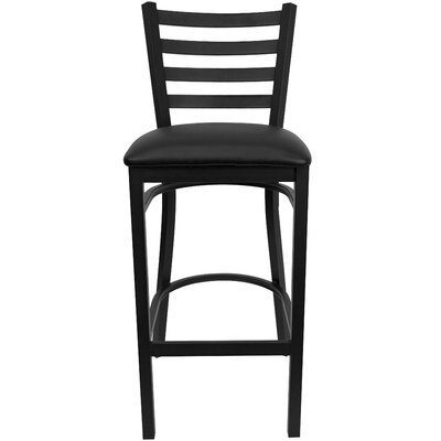 Flash Furniture Hercules Series Ladder Back Metal Restaurant Bar Stool