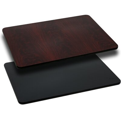 Flash Furniture Rectangular Reversible Laminate Table Top
