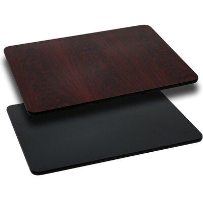 Flash Furniture Rectangular Reversible Laminate Table Top