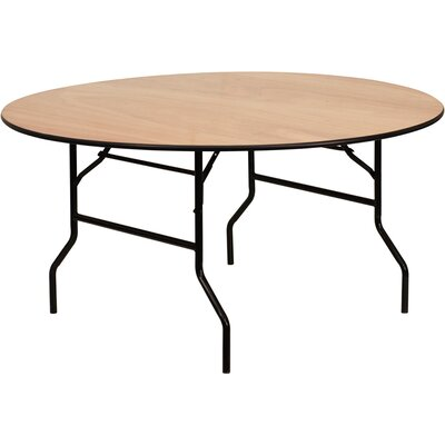 Flash Furniture Round Wood Folding Banquet Table