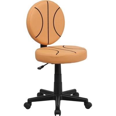 Basketball Mid Back Kid's Desk Chair