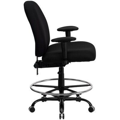 Flash Furniture Height Adjustable Hercules Series Big And Tall Fabric Draftin