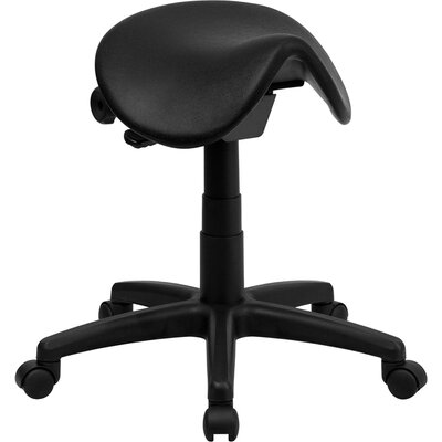 Flash Furniture Backless Saddle Stool