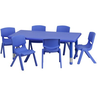 Flash Furniture Rectangular Activity Table