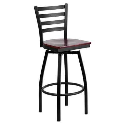 Flash Furniture Hercules Series Back Swivel Bar Stool
