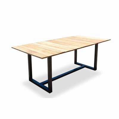 Harbour Outdoor Coast Teak Accent U Frame Dining Table