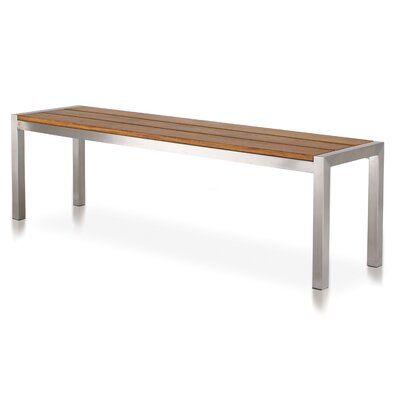 Harbour Outdoor Garden Court Teak and Metal Picnic Bench