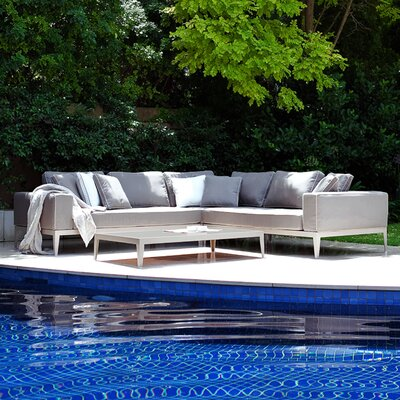 Harbour Outdoor Balmoral 3 Piece Deep Seating Group with Cushions