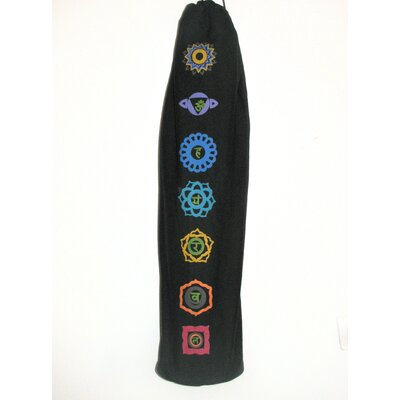 OMSutra Printed Chakra Yoga Mat Bag in Black