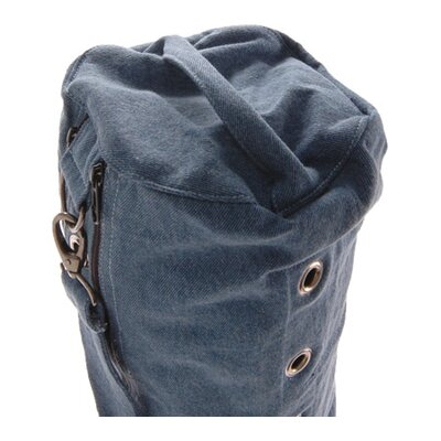 OMSutra Heavy Duty Compartmental Yoga Mat Bag in Denim Blue