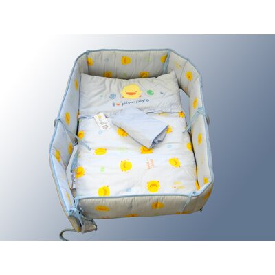 Piyo Piyo Four Piece Cradle Bedding Set in Blue