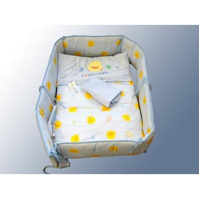 Piyo Piyo Four Piece Cradle Bedding Set in Blue