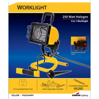 Cooper Lighting 250 Watt 4-in-1 Halogen Portable Worklight