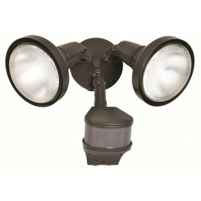 Cooper Lighting 200 Watt PAR Halogen Motion Sensor Light in Bronze
