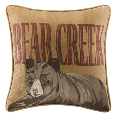 Bear Creek Trees Square Pillow