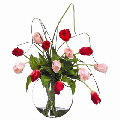 Tori Home Tulip in Glass Vase
