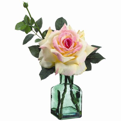 Tori Home Rose in Glass Vase