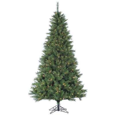 Tori Home Canyon 7.5' Green Artificial Christmas Tree with 550 Smart Clear Lights with Stand
