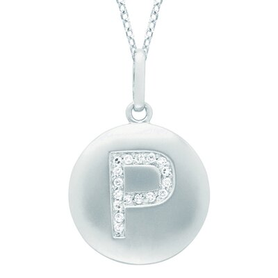 Silver on the Rocks Round Initial P Pendant in Silver