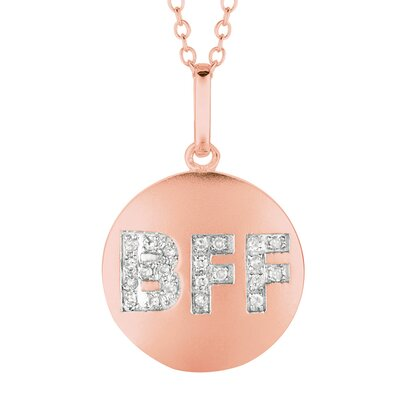 Silver on the Rocks Round BFF Pendant in Rose Gold