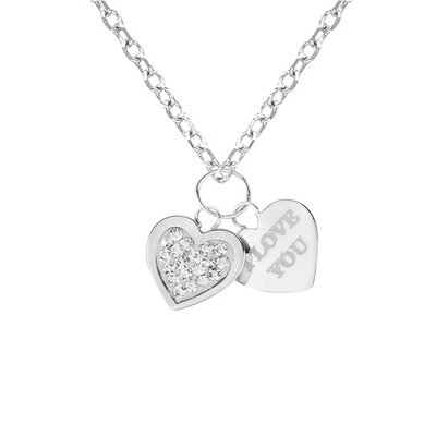 Sterling Silver Crystal Heart with