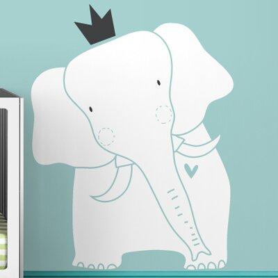 LittleLion Studio Baby Zoo King Elephant Wall Decal