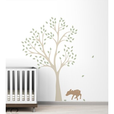 LittleLion Studio Fawn Tree Wall Decal
