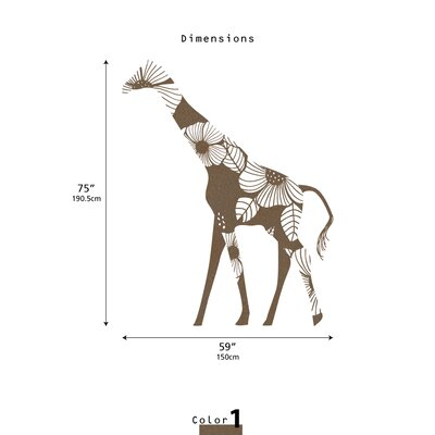LittleLion Studio Fauna Floral Giraffe Wall Decal