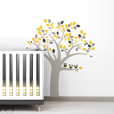 LittleLion Studio Owl Tree Wall Decal