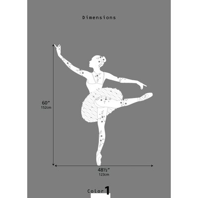 LittleLion Studio Ballerina Black Label Wall Decal